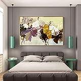 hetingyue Moderne abstrakte Leinwand Malerei Wandkunst Poster Blumendruck auf Leinwand Familie Wohnzimmer Dekoration rahmenlose Malerei 30x60cm