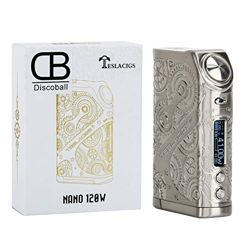 Sigaretta elettronica Teslacigs Steam Punk E Mod Vape Nano 120W Sigaretta elettronica Silver nicotina, No e Liquid, No Nicotina (argento)