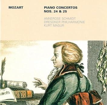 MOZART, W.A.: Piano Concertos Nos. 24 and 25 (Schmidt, Dresden Philharmonic, Masur)