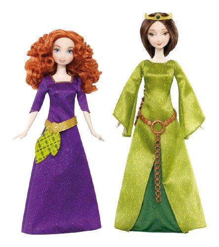 Mattel Disney Princess X5322 - Merida und ihre Mutter Königin Elinor, Puppen