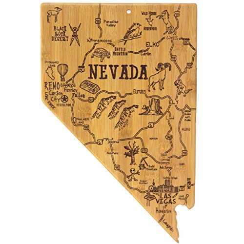 Totally Bamboo Nevada State Destination Bamboo Serving and Cutting Board