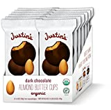 Justin's Organic Dark Chocolate Almond Butter Cups, Rainforest Alliance Certified Cocoa, Gluten-free, Responsibly Sourced, 12-pack (2 cups each)
