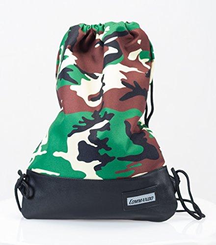Army Sac de gym Gym Bag Sac de sport + Sac à dos Army Boutique de BW Porte-clés, US Army Woodland Camouflage
