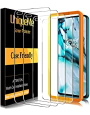 UniqueMe [4 PACK] Gehard glas Compatibel voor Oneplus Nord, [Bubble Free] [9H Hardheid] Anti-kras Screen Protector HD Clear Film voor Oneplus Nord