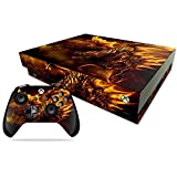MightySkins Skin Compatible with Microsoft Xbox One X - Golden Dragon | Protective, Durable, and Unique Vinyl Decal wrap Cover | Easy to Apply, Remove, and Change Styles | Made in The USA