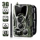 XINHUANG 3G 1080P 16MP Wildkamera Fotofalle mit IP65 wasserdichte Jagdkamera 36 Pcs Low-Glow 940nm Infrarot-LEDs, Infrarot-Nachtsicht bis zu 20m, Triggerzeit 0.3s -