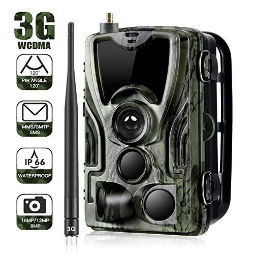 Trappola fotografica per macchina fotografica selvaggia 3G 1080P 16MP con telecamera di caccia impermeabile IP65 36 Pcs LED a infrarossi 940nm a bassa luminanza, visione notturna a infrarossi fino a 2