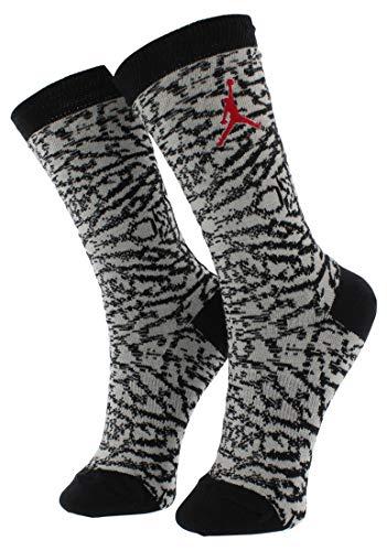 Nike Seasonal Print Crew Socken Linie Michael Jordan Unisex XL Gris/Negro/Rojo