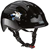 ABUS Smiley 2.0 Kinderhelm - Robuster Fahrradhelm für Mädchen und Jungs - 72572 - Schwarz mit Astronaut, Größe S