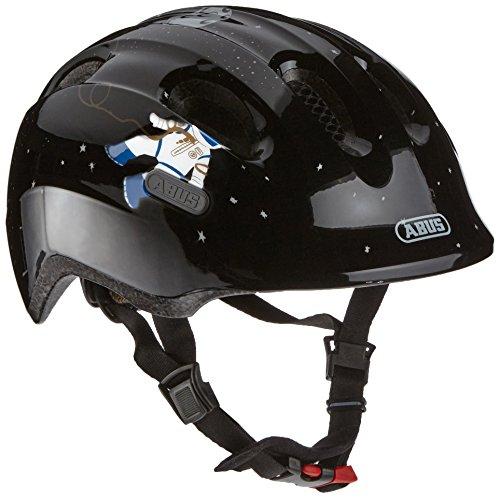 ABUS Smiley 2.0 Kinderhelm - Robuster Fahrradhelm für Mädchen und Jungs - 72573 - Schwarz mit Astronaut, Größe M