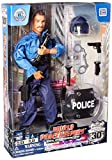 """Click N' Play 12"""" Police Officer Action Figure Playset with Accessories."""