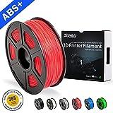SUNLU ABS Plus 3D Printer Filament, 1.75mm,3D Printing Filament Low Odor Dimensional Accuracy +/- 0.02 mm, 2.2 LBS (1KG),Red