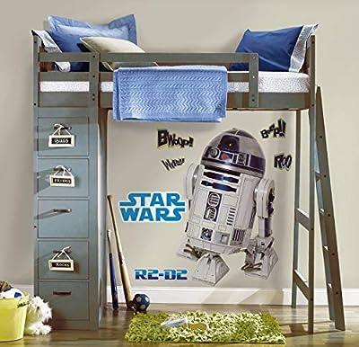 RoomMates Star Wars R2D2 Autocollant Géant Repositionnable