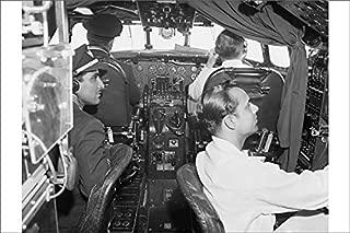 Media Storehouse 12x8 Print of Lockheed Constellation Cockpit (1569955)