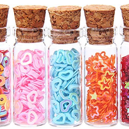 IMIKEYA 24pcs Tarros de Deseo DIY Transparentes Mini Botellas de Vidrio de Corcho Contenedor de Almacenamiento Latas Selladas Tanque de Almacenamiento con Tapones de Corcho para Bodas Botellas
