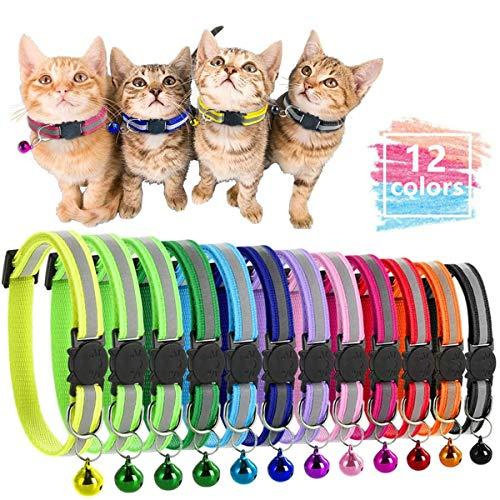 pas cher un bon Collier Aigoo Cats Collier pour chat avec fonction anti-suffocation Collier de sécurité à démontage rapide…