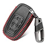 HEZHOUJI for Classic design Leather Car Key Fob Cover for