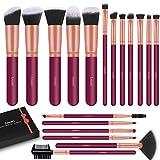 LEUNG Set de brochas de maquillaje profesional 18 Piezas, Brochas de Maquillaje, Pinceles Sintéticos Para Correctores en Polvo de Base Blush Eyeshadow (rojo)