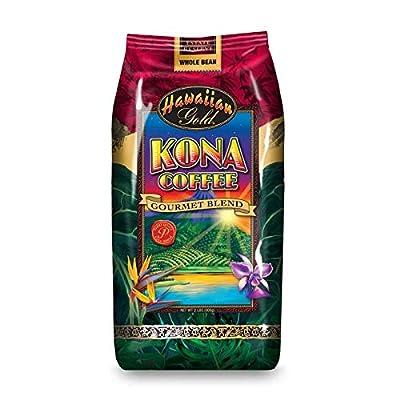 Hawallan Gold Kona Blend Coffee, 2 Pound … by Gold Coffee Company