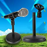 MODERN IN Microphone Stand | Extendable 2 Step Table Desktop Microphone Stand Holder
