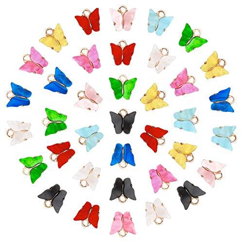 Metagio - 45 colgantes de mariposa con colgantes de acrílico con colgante de mariposa, colgantes...