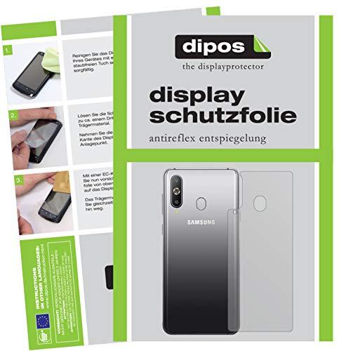 dipos I 2X Schutzfolie matt kompatibel mit Samsung Galaxy A8s Rückseite Folie Bildschirmschutzfolie (bewusst Kleiner als das Glas, da Dieses gewölbt ist)
