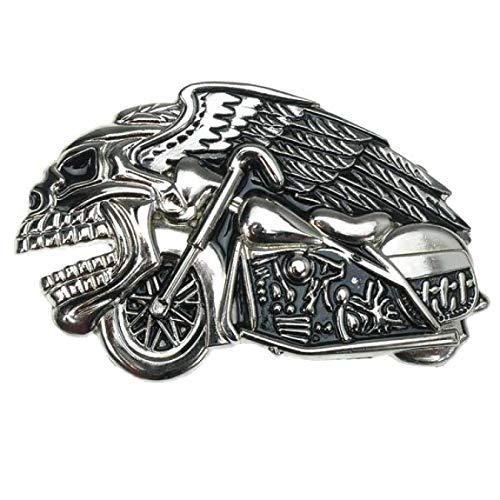 Biker Buckle Volando Calavera, Calavera, Chopper - Hebilla