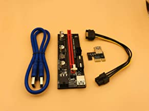 100PCS 009S USB 3.0 PCI-E Express 1X to 16x Extender Riser Card SATA 15pin Male to 6pin Power Cable for BTC Bitcoin Miner Mining