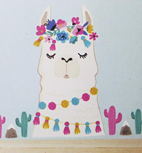 Living Room Wall Sticker | Llama with Cactus | DIY Self Sticking | Creative Decal | Bedroom Peel and Stick | Strong Vinyl with Bright Multi Color Effect