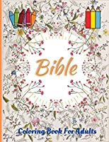 Bible Coloring Book For Adults: God's World Coloring Pages, Inspirational Adult and Teen Activity Book, Easy and Fun