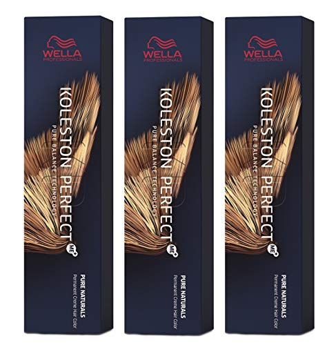 Wella 3 er Pack Koleston Perfect Me+ KP PURE NATURALS 5/0 hellbraun