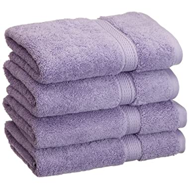 Superior 900 GSM Luxury Bathroom Hand Towels, Made of 100% Premium Long-Staple Combed Cotton, Set of 4 Hotel & Spa Quality Hand Towels - Purple, 20  x 30  each