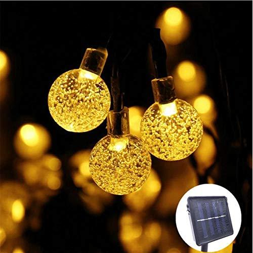 50 LEDS 10M Bola de cristal Lámpara solar Energía LED Cadena de luces de hadas Guirnaldas solares Jardín Decoración navideña para exteriores