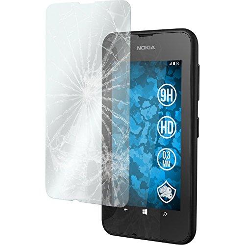 PhoneNatic 2 x Glas-Folie klar kompatibel mit Nokia Lumia 530 - Panzerglas für Nokia Lumia 530