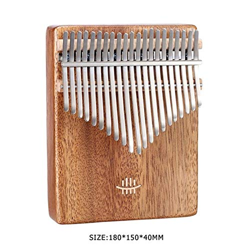 Kalimba, Daumenklavier 21/17 Keys Kalimba Afrikanische Massivholz-Daumen-Finger-Piano Sanza Mbira Keyboard Calimba Mit Stoff-Tasche Musikinstrumente Mithelfer (Color : 21 keys Walnut)