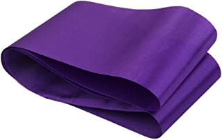 ULTNICE Plain Satin Sash DIY Satin Sash for Birthday Baby Shower Hen Party (Purple)