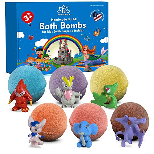 Bath Bombs for Kids with Surprise Toys Inside - Kids Bath Bombs with Surprises Inside - Bath Bombs Gift Set for Girls & Boys - Multicolored Organic Bubble Bath Bombs - Natural and Safe for Kids