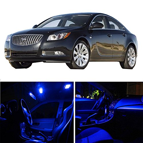 Replacement fit for Buick Regal 2011-2016 Package Kit Blue LED Interior Light Accessories Replacement Parts 16 Pcs