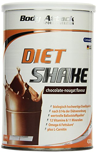 Body Attack Diät Shake 430g - Diet Shake Chocolate-Nougat