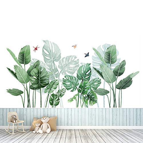 Pegatinas de Pared Planta Tropicales,Planta tropical Hoja de tortuga Etiqueta de la pared,para Dormitorio, Sala de Estar, Comedor, Pared de Fondo de Tv, Pasillo, Oficina, Tienda, Etc (0)