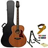 Sawtooth Mahogany Series Solid Mahogany Top Acoustic-Electric Jumbo Guitar with Hard Case & Accessories
