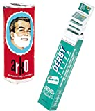 Shaving Factory - Set de afeitado (incluye cuchillas de afeitar de doble hoja Derby Extra y pastilla de jabn de afeitar Arko, pack de 1 unidad)