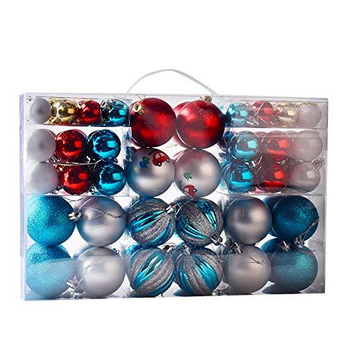 Gudotra Kit 100pz Palline di Natale Addobbi Albero di Natale Decorazione per Albero di Natale Palle Ornamento Natale