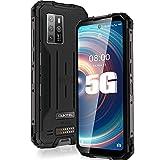 OUKITEL WP10 5G Rugged Smartphone Unlocked,6.67''FHD+8000MAH Battery 18W Fast Charging,8GB+128GB Android 10,Sony 48MP AI Quad Camera,Fingerprint/Face ID/NFC/GPS,Waterproof Phone Global Version Black