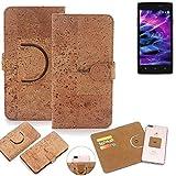 K-S-Trade 360° Cover cork Case for Medion Life E5005  