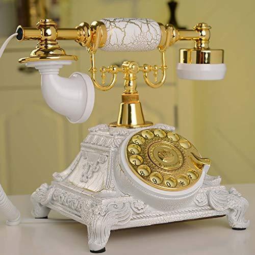 WDXLT Campana De Metal Función De Rellamada Teléfono con Cable,Retro Teléfono De Marcación Rotatoria,Timbre Extra Fuerte Teléfono Retro Vintage B 25x17x20cm (10x7x8inch)