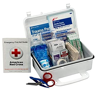 10 Person First Aid Kit, Weatherproof Plastic Case by First Aid Only