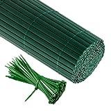 Jarolift Canisse en PVC 180 x 300cm, Verte Compris 50 Attaches-câble, Verte