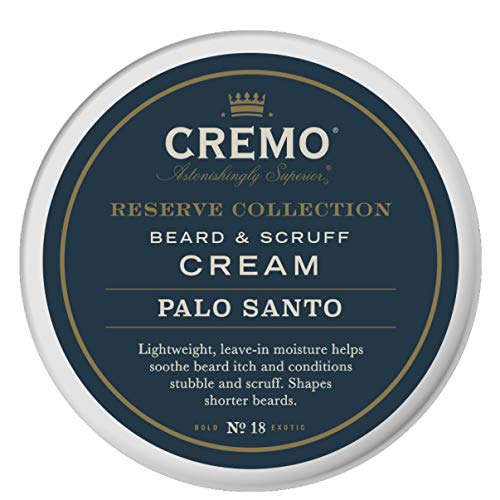 Cremo Palo Santo Reserve Collection Beard & Scruff Cream, 4 Ounce - Styles & Reduces Beard Itch