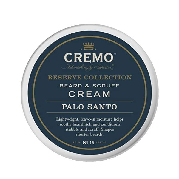 Cremo Palo Santo Reserve Collection Beard & Scruff Cream, 4 Ounce - Styles & Reduces Beard Itch 1